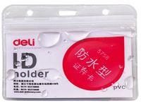 DELI Бейдж горизонтальный DELI 56x91мм PVC прозрачный, 10 шт.