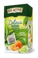 Чай зеленый Big Active with Mandarine & Lime, 20 шт
