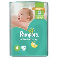 Pampers active-baby dry RC Maxi  4, 17шт. 8-14кг