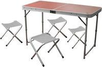 Set mobilier camping, masa pliabila + 4 scaune
