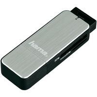 Переходник для IT Hama 123900 Card Reader SD/MicroSD, USB 3.0 Aluminium Silver