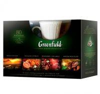 Ceai Greenfield Set de cadou 4 feluri de ceai + cana
