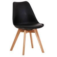 купить Деревянный стул с деревянными ножками, 520x480.5x820 мм, черный в Кишинёве