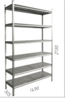 купить Стеллаж металлический с металлической плитой Gama Box 1195Wx580Dx1830 Hмм, 6 полок/MB в Кишинёве