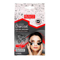 Beauty Formulas Charcoal Eye Gel Patches 6 Pairs - Патчи с активированным углем