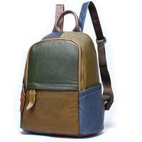 Современный кожаный рюкзак для девочек