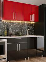 Кухонный гарнитур Bafimob Mini (High Gloss) 1.6m Red/Black
