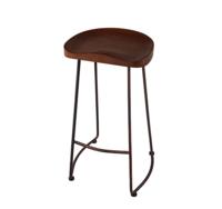 купить Деревянный стул и ножки из металла 430x450x760 мм, черный в Кишинёве