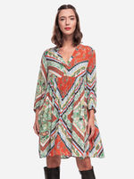 Платье TOM TAILOR Цветной принт 1021652 24666
