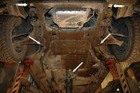 !                       MERCEDESbenz  W2122010-         ЗАЩИТА коробки SHERIFF | Защита кпп