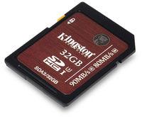 Kingston 32GB SDHC UHS-I Speed Class U3