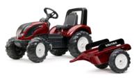 Falk Трактор с педалями и прицепом Valtra S4