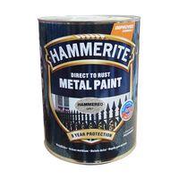Hammerite Краска для металла Серая молотковая 2.5л