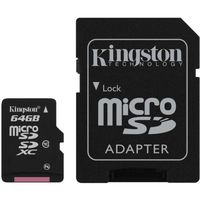 Kingston 64GB, microSDXC Class10 SD adapter 300x