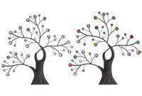 купить Дерево декоративное с камнями 39X39.5cm, металл в Кишинёве