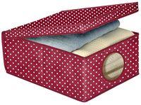 Коробка для хранения BORDEAUX 48X36X19cm, тканевая
