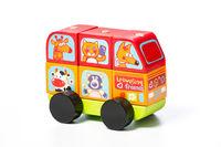 Cubika конструктор деревяныи автобус весёлые животные,  LM-10