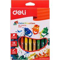 DELI Карандаши масляные пастель DELI, 18 цветов