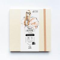 Скетчбук Малевичъ для маркеров Fashion, кремовый, 75 гм, 15х15, 80л