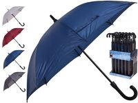 Зонт-трость автомат D114cm ручка-крючок, одноцветный, 4 цвет