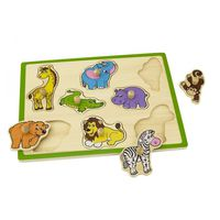 Flat Puzzle-Wild Animals