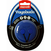 """купить MAXELL """"YOYO BUDS V.2"""" Blue/Black, Earphones with in-line Microphone, Protective silicone case, Hands free calling features, 3 sets of ear tips, Flat cable, Cord type cable 1.2 m в Кишинёве"""