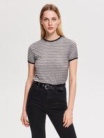 Блуза RESERVED Серый в полоску