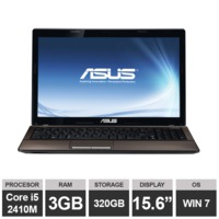 "Ноутбук Asus X53E (15,6"" i5 2410M 3GB RAM 320GB HDGraphics Win7) Black"