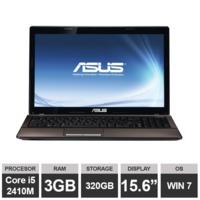 """Ноутбук Asus X53E (15,6"""" i5 2410M 3GB RAM 320GB HDGraphics Win7) Black"""