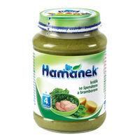Hamanek пюре кролик со шпинатом и картошкой 4+ мес., 190 г