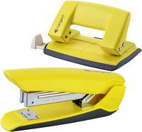 KANGARO Набор KANGARO степлер Nowa-35+дырокол Aion-10 желтый