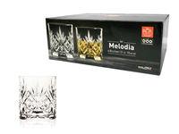 Set pahare pentru whisky Melodia 6buc, 310ml