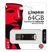 купить 64GB USB3.1 Kingston DataTraveler Elite G2 Black, Durable zinc alloy die-cast metal casing is shock and water-resistant, LED indicator, (Read 180 MByte/s, Write 60 MByte/s) в Кишинёве