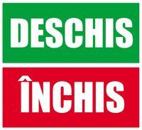 """Табличка """"INCHIS-DESCHIS"""" 11x25см/комплект"""