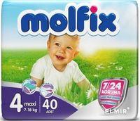 Molfix подгузники Maxi 4, 7-18кг. 40 шт