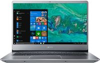 "ACER Swift 3 Sparkly Silver (NX.GXZEU.021), 14.0"" IPS FullHD + Win10 (Intel® Quad Core™ i5-8250U 1.60-3.40GHz (Kaby Lake R), 8GB DDR4 RAM, 128GB SSD, Intel® HD Graphics 620, CardReader, WiFi-AC/BT, 4cell, HD Webcam, RUS, Win10, 1.5kg, 17.95mm)"