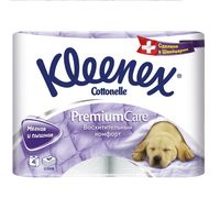 Туалетная бумага Kleenex Premium Care, 4 рулонов четырехслойная
