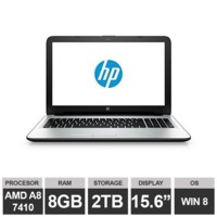 "Ноутбук HP 15-af067sa (15,6"" AMD A8 7410 APU Radeon R5 8GB 2TB Win8)White"