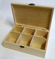 Cutie din lemn cu 6 compartimente 7.5x19x27cm