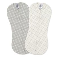 Спальные мешочки Summer Infant SwaddleMe Grey/White Dots (0-2 мес) 2 шт