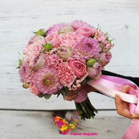 купить Нежный букет невесты в розовых тонах в Кишинёве