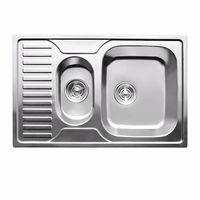 купить Мойка кухонная нержавеющая 0,8мм (satin)полуторная78/50 см прав7850R в Кишинёве
