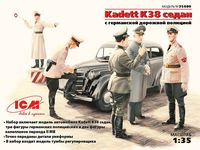 35480 Kadett K38 седан с немецкой дорожной полицией
