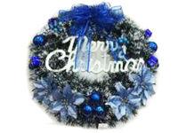 """купить Венок """"Merry Christmas"""" D50cm с синей лентой в Кишинёве"""