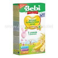 Bebi Каша безмолочная 5 злаков с бананом  200 гр. (6+)