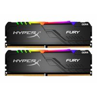 16GB  (Kit of 2*8GB) DDR4-3000 HyperX® FURY DDR4 RGB, PC24000, CL15, 1.2V, Auto-overclocking, Asymmetric BLACK heat spreader, Dynamic RGB effects featuring HyperX Infrared Sync technology, Intel XMP Ready (Extreme Memory Profiles)