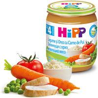 Пюре Hipp цыпленок с рисом и овощами (4+ мес.), 125 г