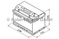 Bosch S4 12V 72Ah 680EN 278x175x175 -/+