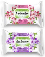 Салфетки влажные Freshmaker Cherry / Apple Blossom 100