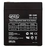 GINZZU GB-1245 Battery 12V 4.5Ah батарея для UPS